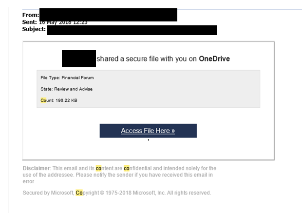 Phished Email